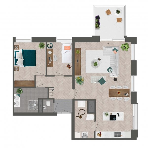 Appartement De Slotwachter, bouwnummer 5