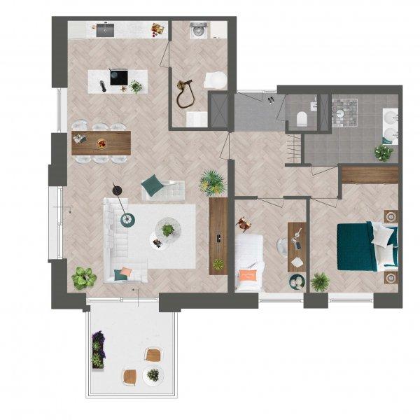 Appartement De Slotwachter, bouwnummer 7