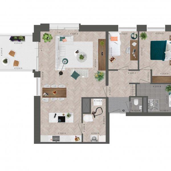 Appartement De Slotwachter, bouwnummer 8
