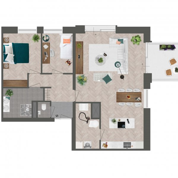Appartement De Slotwachter, bouwnummer 9