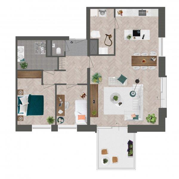 Appartement De Slotwachter, bouwnummer 14