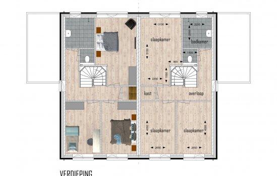 Woolderpark twee-onder-een-kapwoningen, bouwnummer 3