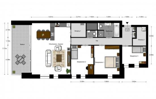 5-kamer appartementen, bouwnummer 1602