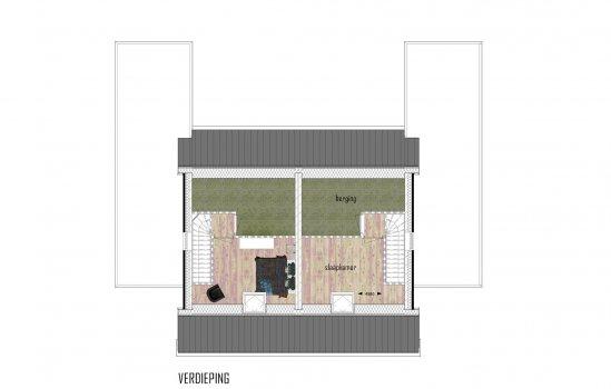 Woolderpark twee-onder-een-kap bungalow, bouwnummer 20