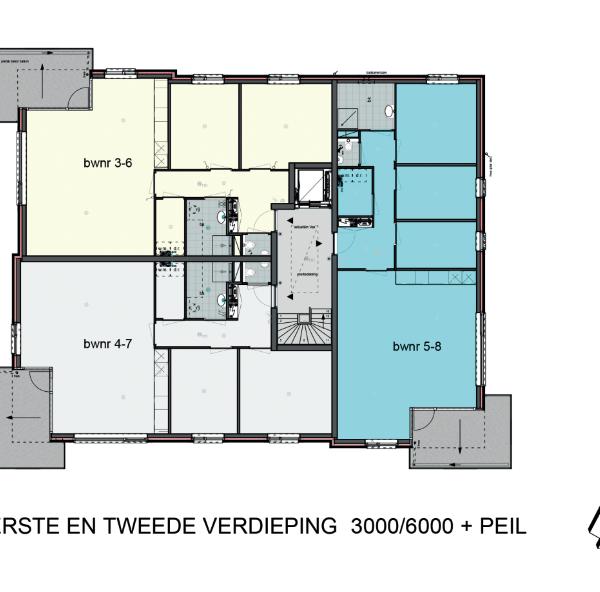 Type C 1e of 2e etage, bouwnummer 4