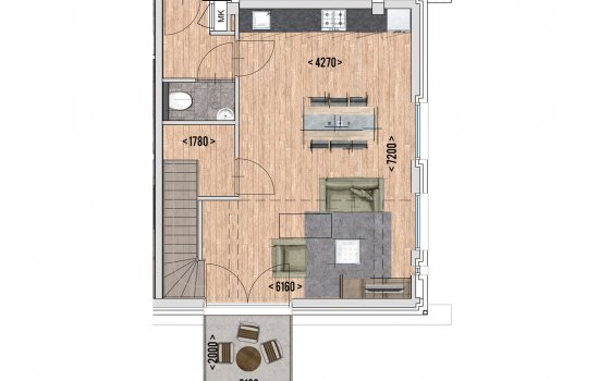 9 huur appartementen, bouwnummer 1