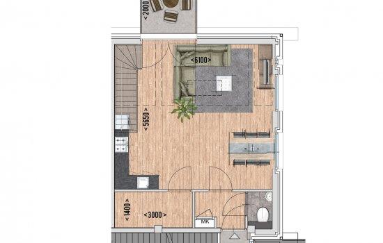 9 huur appartementen, bouwnummer 9