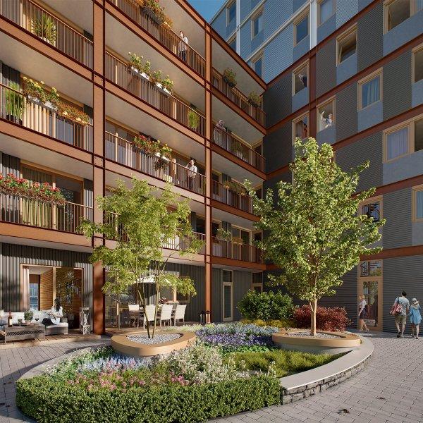 Compacte appartementen, bouwnummer 2