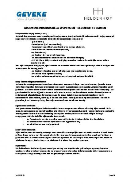 Algemene informatie Heldenhof