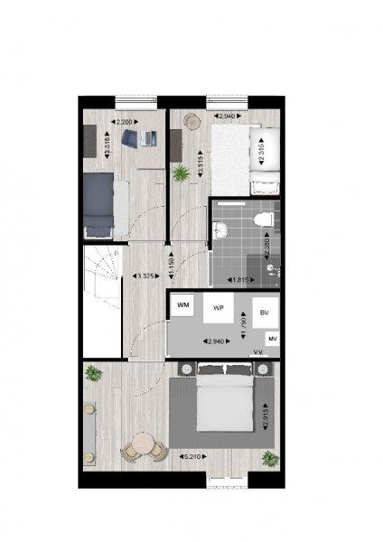 Plattegrond 1e verdieping type A