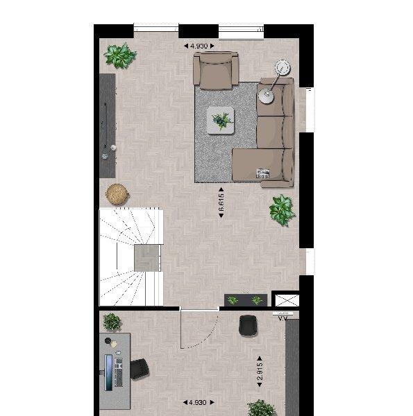 Plattegrond 1e verdieping type B