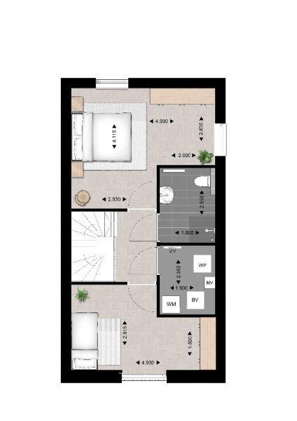 Plattegrond 2e verdieping type B