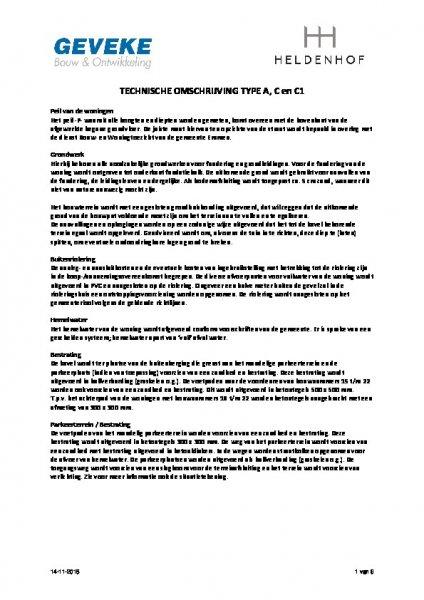 Technische omschrijving type C1