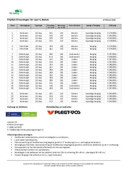 04 Prijslijst 24 woningen Bedum v01588161035.4 1588161035 1588161040.pdf