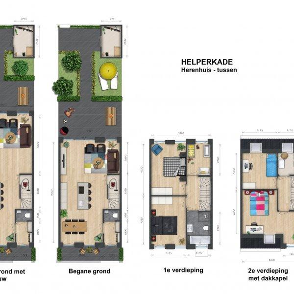 Nieuwbouwproject Helperkade in Groningen