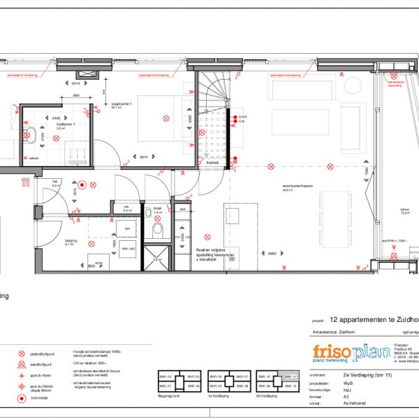 Plattegrond appartement 11 penthouse