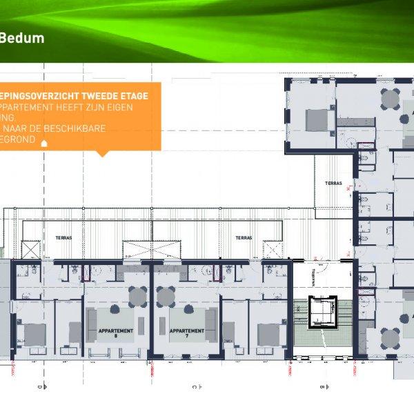 Tweede etage (app 5- 8)