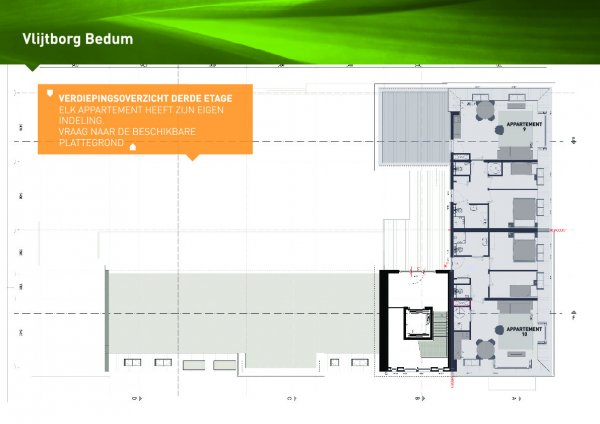 derde etage (app 9-10)