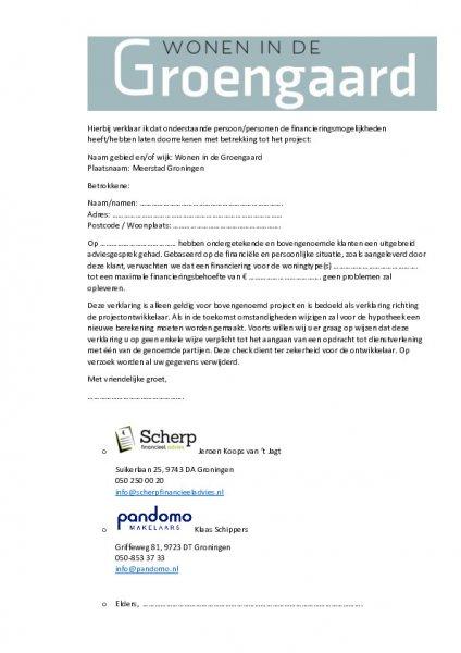 Brochure - Prijslijst - Haalbaarheidscheck - Wegwijs bij aankoop