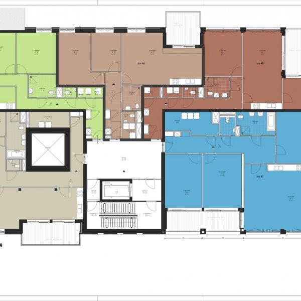 Nieuwbouwproject Ebbingekwartier (appartementen blok 7) in Groningen