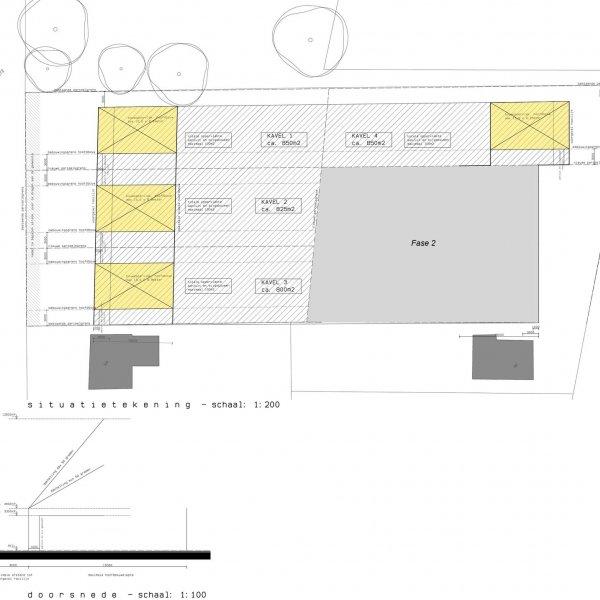Nieuwbouwproject Geldersebaan/Plataanstraat - 4 bouwkavels in Tegelen