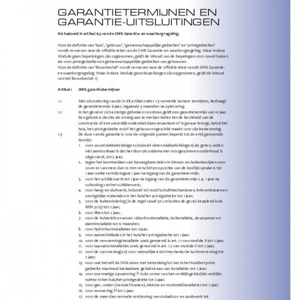 Garantie Regelement