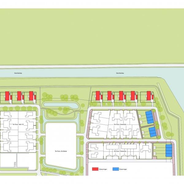 Nieuwbouwproject Meerstad Tersluis vlek 14-16 in Meerstad