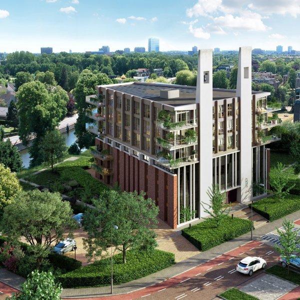 Nieuwbouwproject Wonen in de Fonteinkerk in Voorburg