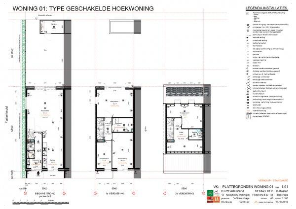 Technische plattegronden geschakelde woningen