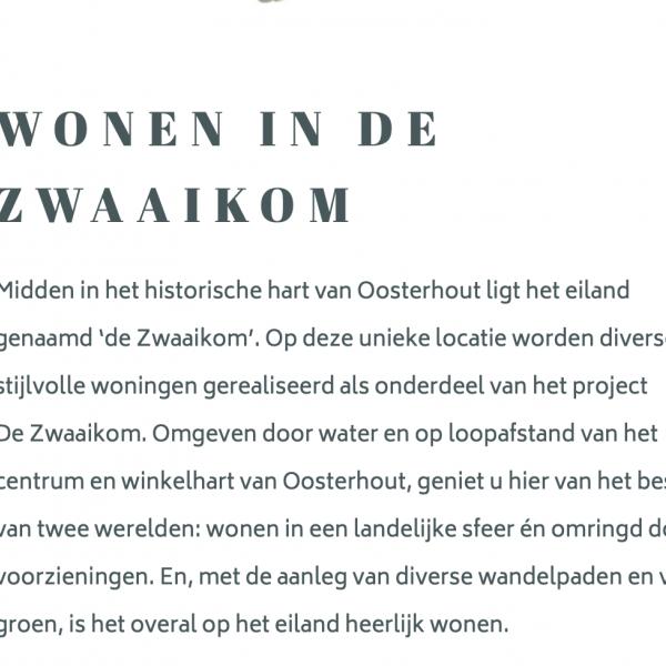 Nieuwbouwproject IN VOORBEREIDING: 29 woningen De Zwaaikom Fase II in Oosterhout