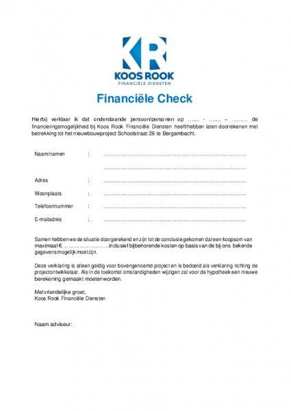 Financiële check Schoolstraat26