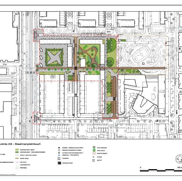 Staalmanplein - Plankaart