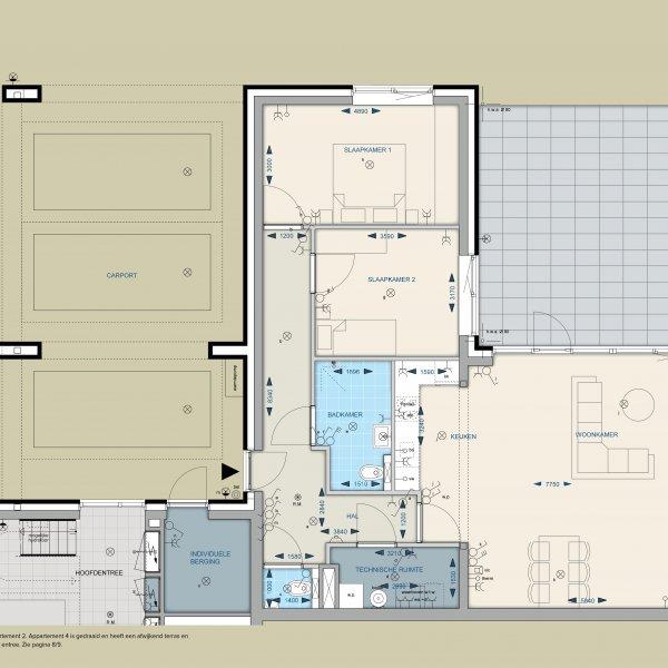 Appartementen 2 en 4