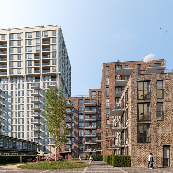 Nieuwbouwproject Eindhoven - Strijp S - S-West - Toren Frits in Eindhoven