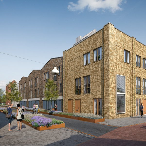 Nieuwbouwproject Ebbingekwartier (woningen blok 7) in Groningen