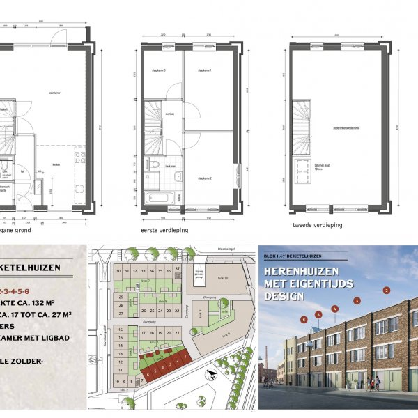 Nieuwbouwproject Ebbingekwartier (blok 7) in Groningen