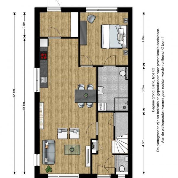 Nieuwbouwproject 8 woningen aan de Kievit in Baflo