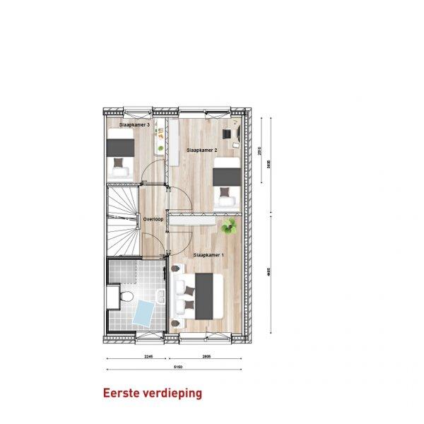 Tussenwoning, bouwnummer 3