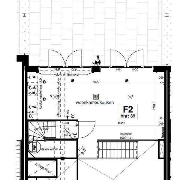 Type F (blok G14 en H10), bouwnummer 38