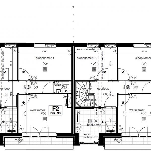 Type F (blok G14 en H10), bouwnummer 39