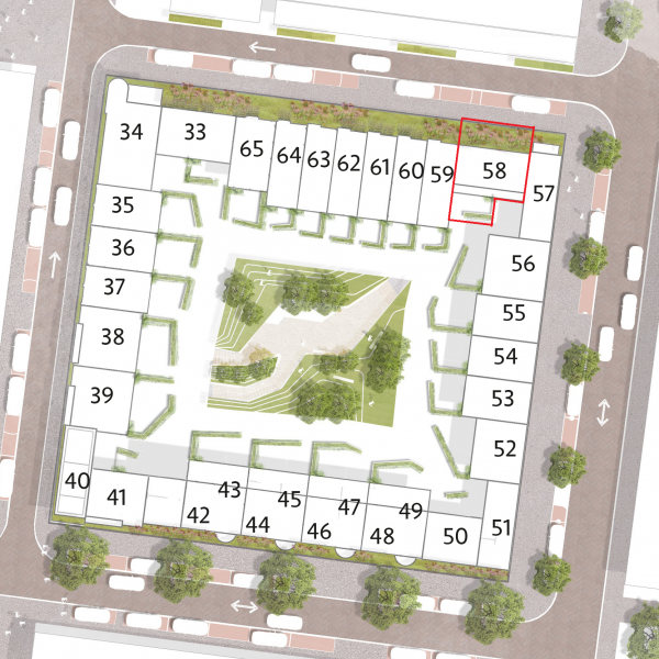 Type Q Herenhuis (blok H10), bouwnummer 58