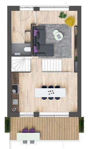 Herenhuizen - binnentuin, bouwnummer 1