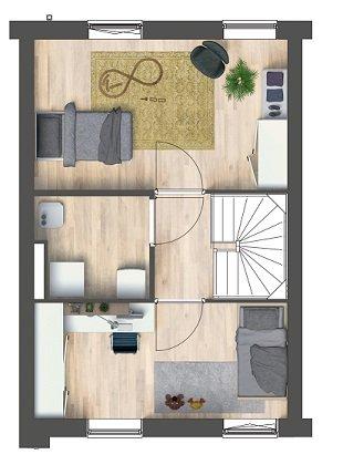 Herenhuizen - binnentuin, bouwnummer 3