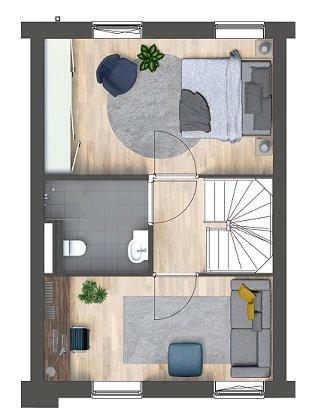 Herenhuizen - binnentuin, bouwnummer 4