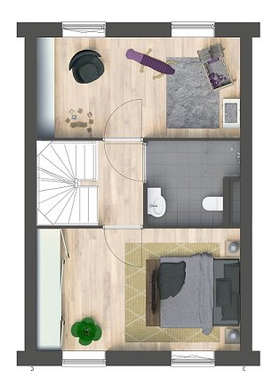 Herenhuizen - binnentuin, bouwnummer 7