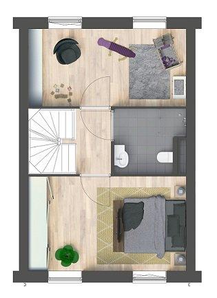 Herenhuizen - binnentuin, bouwnummer 12
