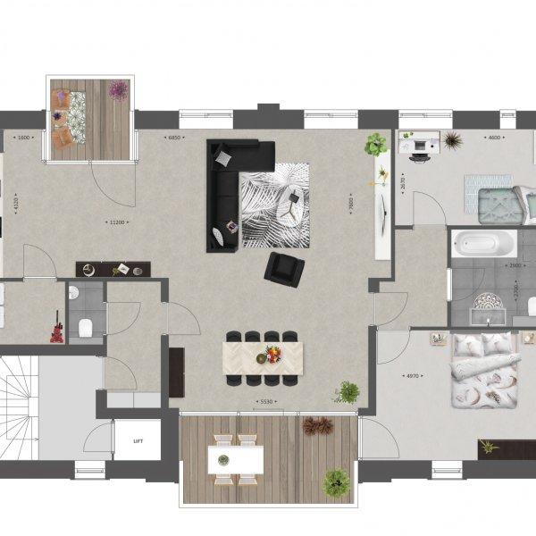 Appartementen   Type A, bouwnummer