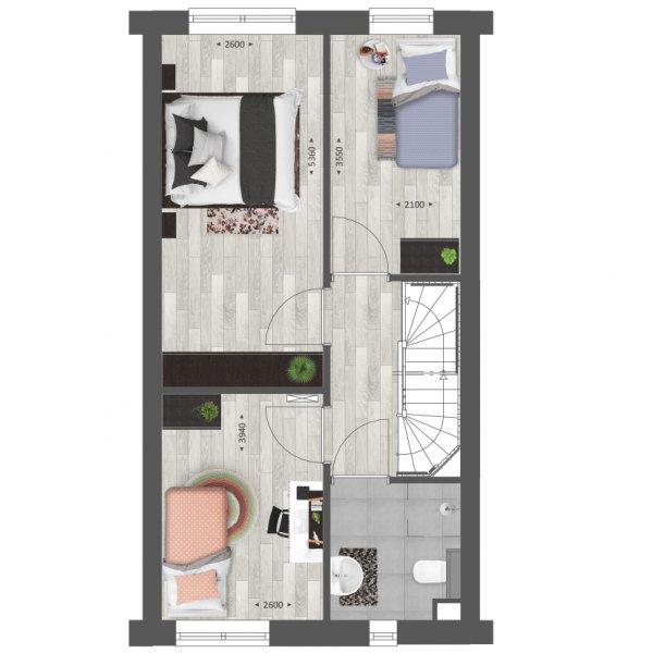 Rij- en hoekwoningen | Type B en B1, bouwnummer
