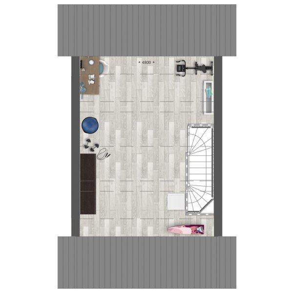 Rij- en hoekwoningen   Type B en B1, bouwnummer