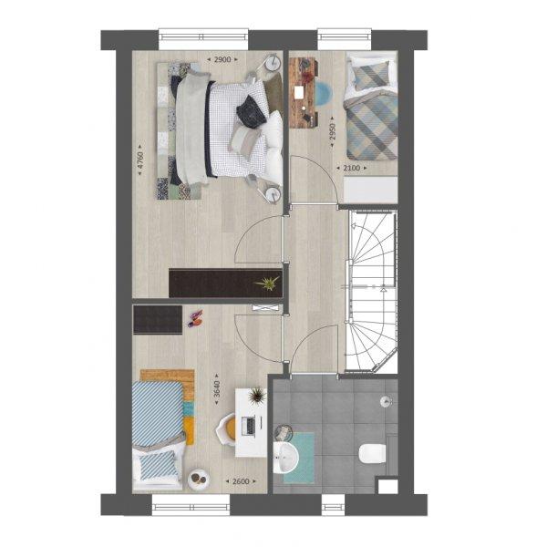 Rij- en hoekwoningen | Type C en C1, bouwnummer